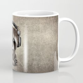 Cute Baby Raccoon Deejay Wearing Headphones Coffee Mug