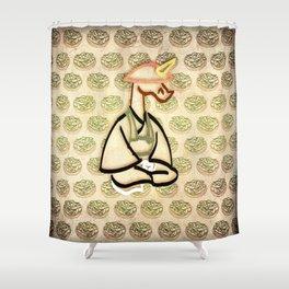 Edamame Unicorn Shower Curtain