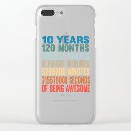 10th Birthday boy grandson poem funny gift Clear iPhone Case