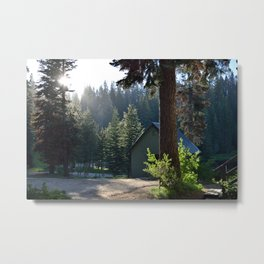 Evening at the Cabin Metal Print