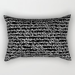 Ancient Arabic Script // Black Rectangular Pillow