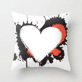 I Heart Live Art Throw Pillow
