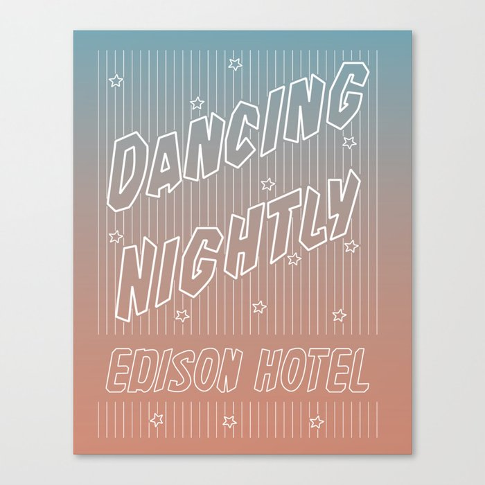 Edison Hotel Gradient (Toronto Neon Signs) Canvas Print by kurtkdesign