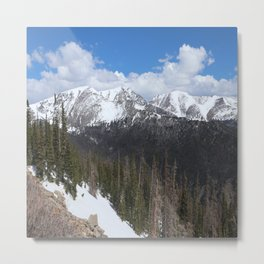 Rocky Mountain Scene Metal Print
