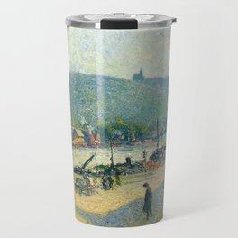 "Camille Pissarro ""Place Lafayette, Rouen""(""The Quays at Rouen"") Travel Mug"