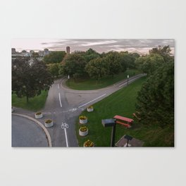 Parc de la cite du Havre Bike Paths Canvas Print