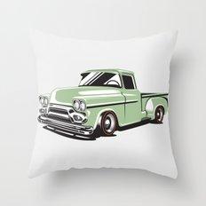 Rat Rod Truck Throw Pillow