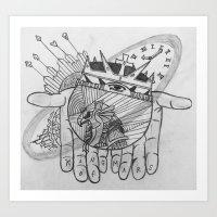 Hand Abstract Art Print
