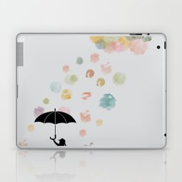Colorful snow in Winter Laptop & iPad Skin