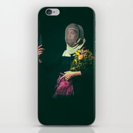 Noble Girl Athlete with Bouquet of Flowers  iPhone Skin