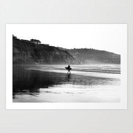 Surf California Art Print