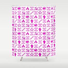 VIVA LA REVOLUCIÓN (PINK) Shower Curtain