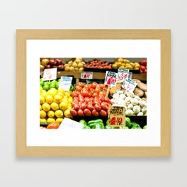 pike place market (one) Framed Art Print