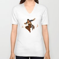 revolution V-neck T-shirts featuring Revolution by Arts and Herbs