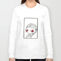 blush Long Sleeve T-shirts featuring portrait (blush) by woollover