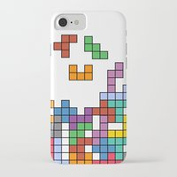 tetris iPhone & iPod Cases featuring Tetris by Adayan