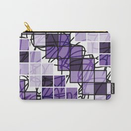 Purple | Squares Carry-All Pouch