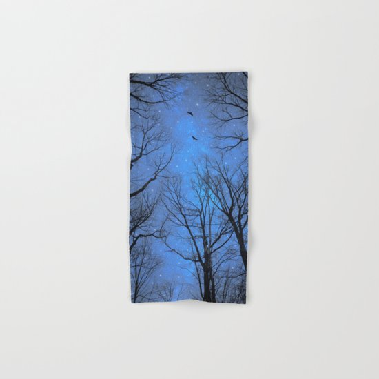 A Certain Darkness Is Needed (Night Trees Silhouette) Hand & Bath Towel