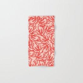 Red Coral Ferns Hand & Bath Towel