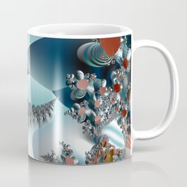 On the Edge of a Fantasy Landscape -- fractal art by Twigisle at Society6 Coffee Mug