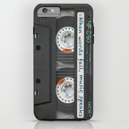 Cassette iPhone - Words iPhone Case