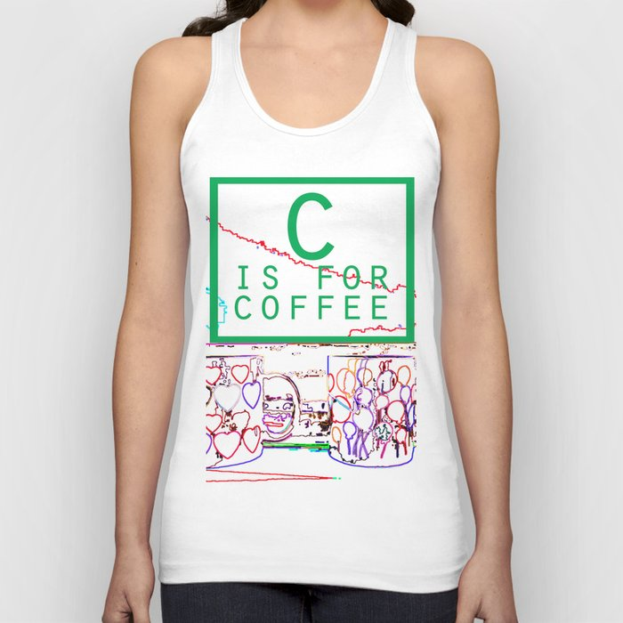"""""""C is for Coffee"""" Unisex Tank Top"""