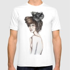 Queen of Diamonds // Fashion Illustration MEDIUM White Mens Fitted Tee