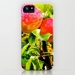 Apple tree with a rain drops iPhone Case