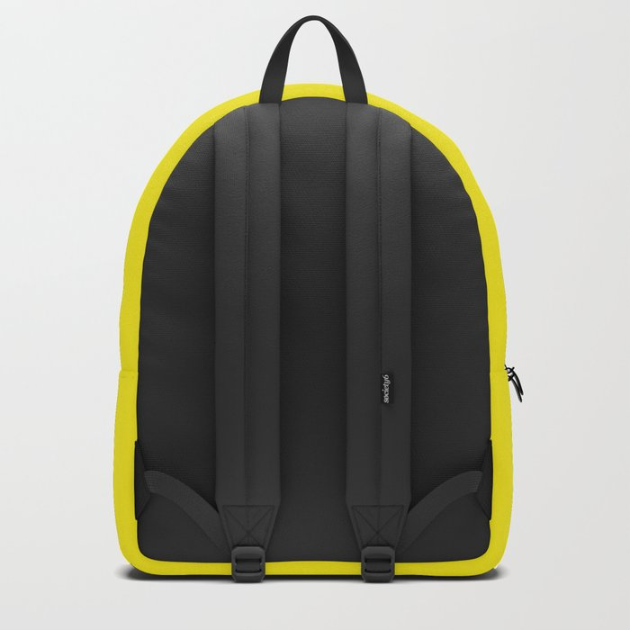 Abstract Pop Yellow Backpack