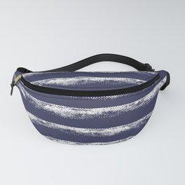 Irregular Stripes Dark Blue Fanny Pack