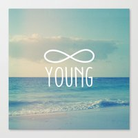 forever young Canvas Prints featuring Forever Young by hyakume