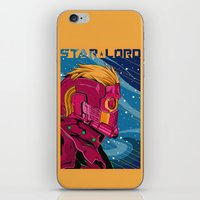 starlord iPhone & iPod Skins featuring Starlord Guardians of the galaxy by W.B.