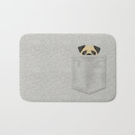 Pocket Pug Bath Mat
