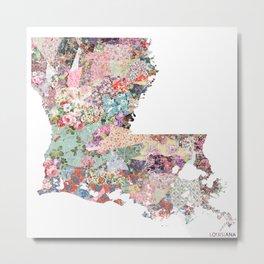 Louisiana map Metal Print