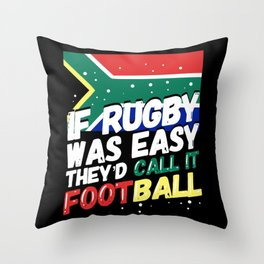 South African Rugby - Funny Rugby Player Gift Throw Pillow