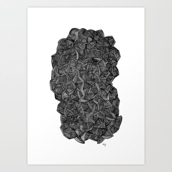 - I see a darkness - Art Print