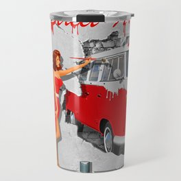 Street-Art in Digital-Art Travel Mug
