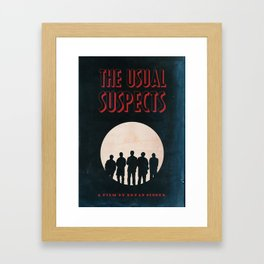 The Usual Suspects Film Noir Style Vintage Poster Framed Art Print