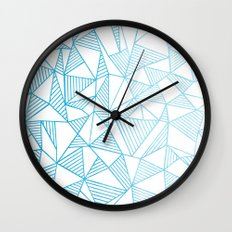 Abstraction Lines Watercolour Wall Clock