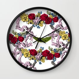 Corinthian Grapes 2 Wall Clock