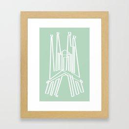 Sagrada Familia in one draw Framed Art Print