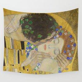The Kiss - Closeup - Gustav Klimt Wall Tapestry