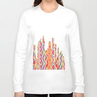 houston Long Sleeve T-shirts featuring Houston Chevron  by Gr8Designz