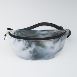 Moody Switzerland Mountain Peaks - Landscape Photography Fanny Pack