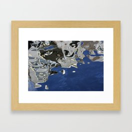 Reflection in canal, Amsterdam Framed Art Print