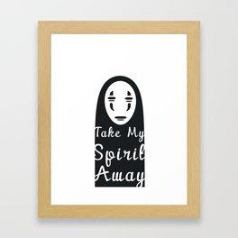 Take My Spirit Away Framed Art Print