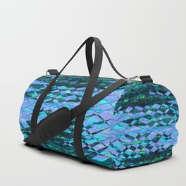Blue-green ocean abstract Duffle Bag