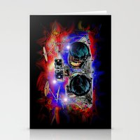 drums Stationery Cards featuring Psychedelic Drums by JT Digital Art