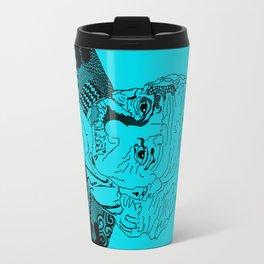 Albert Einstein - turquoise Travel Mug