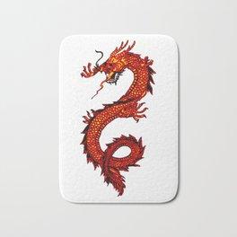 Mythical Red Dragon Bath Mat
